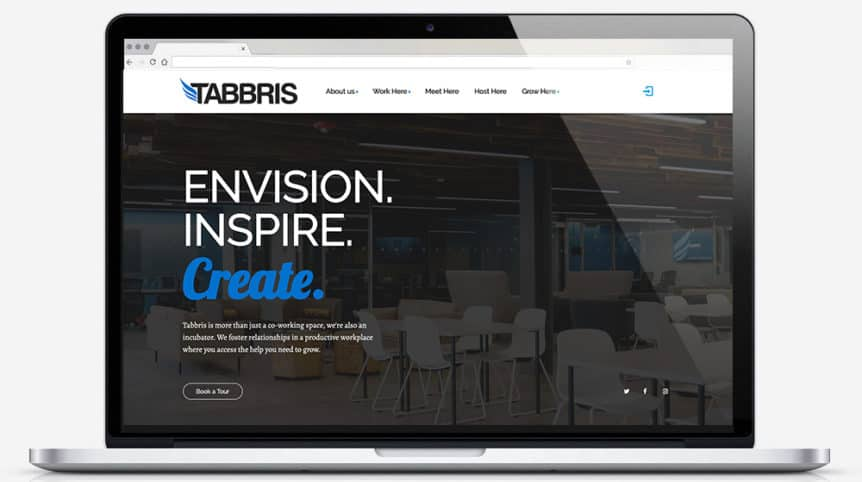 Tabbris Co-working Website design and development